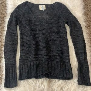 Charcoal Grey V-Neck Sweater